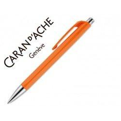 Boligrafo Caran d´Ache coleccion 888 Infinite Color naranja Trazo medio