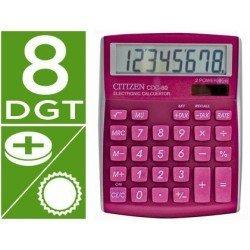 Calculadora sobremesa Citizen Modelo CDC-80 Rosa