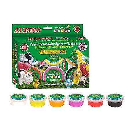Caja Pasta Alpino para moldear 6 colores