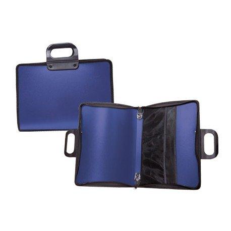 Cartera Marca Liderpapel portadocumentos con asa y cremallera Azul