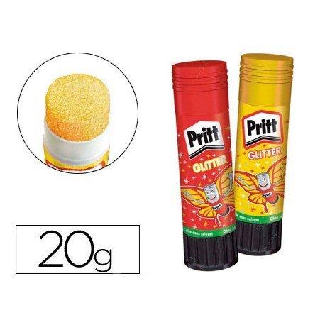 Pegamento marca Pritt en barra 20 gr Glitter Glue No se puede elegir color