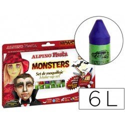 Barra maquillaje Alpino monsters caja de 6 colores surtidos