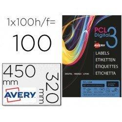 Etiqueta adhesiva marca Avery SRA3 teslan blanco opaco 320x450 mm para impresora digital