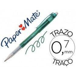 Boligrafo Papermate verde tinta gel 0,7 mm