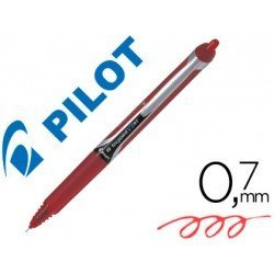 Boligrafo Pilot V-7 retractil 0,7 mm color rojo
