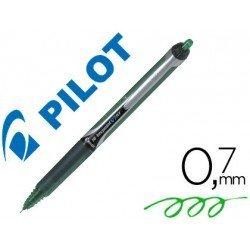 Boligrafo Pilot V-7 retractil 0,5 mm Color verde