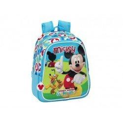 Mochila Infantil Mickey Mouse Club House Adaptable Carro 27x33x10 cm