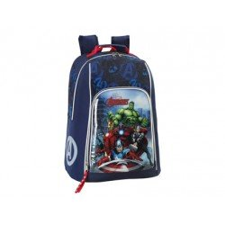 Mochila Escolar Avengers Assemble Adaptable Carro 33x43x17 cm