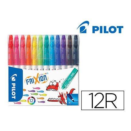 Rotulador Pilot Frixion Colors Punta Fina Borrable Estuche con 12 Colores Surtidos