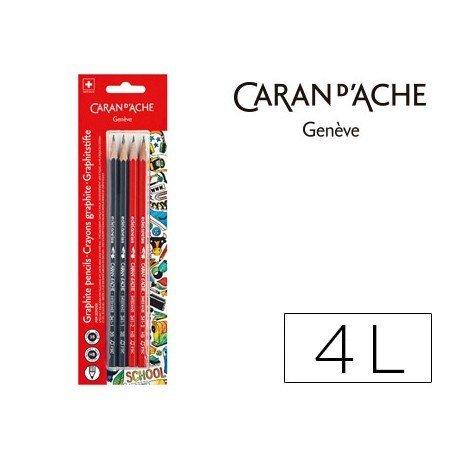 Lapiz grafito Caran D´ache Pack 2 unidades HB y 2 unidades 3B