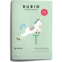 Cuaderno vacaciones Rubio 3º Primara