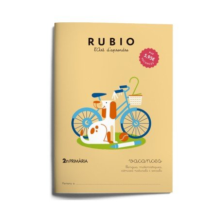 Cuaderno vacaciones Rubio 2º Primaria Catalan