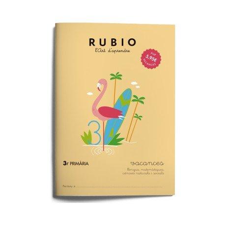 Cuaderno vacaciones Rubio 3º Primaria Catalan