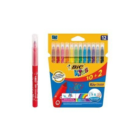Rotuladores BIC kids couleur 10+2