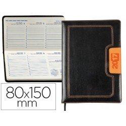 Agenda 2017 Liderpapel Dorios Semana Vista 8x15 cm color Negro y Naranja