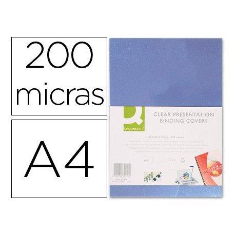 Tapa de Encuadernacion Pvc Q connect Din A4 Incolora 200 MC