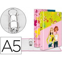 Carpeta anillas A5 fantasia Barbie Liderpapel