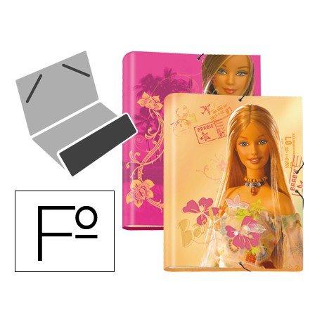 Carpeta gomillas A4 clasificadora fantasia Barbie Liderpapel