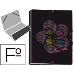 Carpeta gomillas A4 fantasia princess Liderpapel