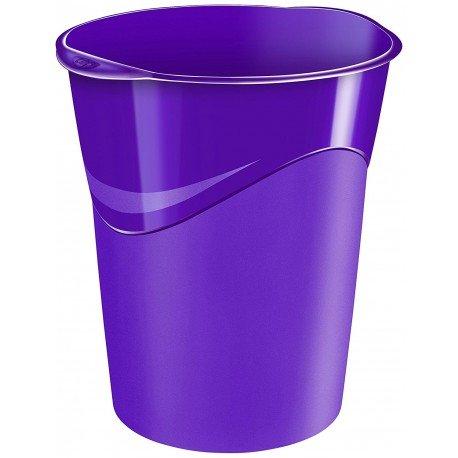 Papelera de plastico Cep Violeta de 14 litros