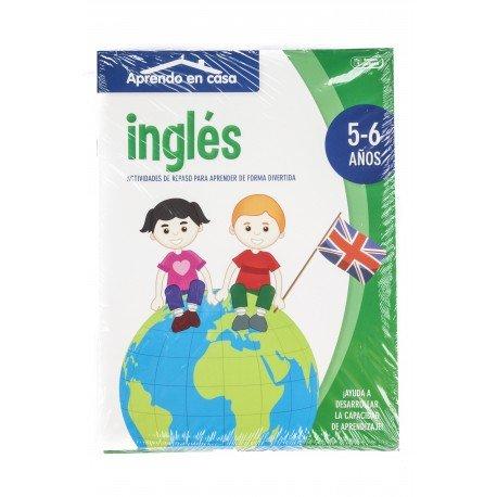 Cuaderno de Colorear Actividades para 5 a 6 años Aprende Inglés