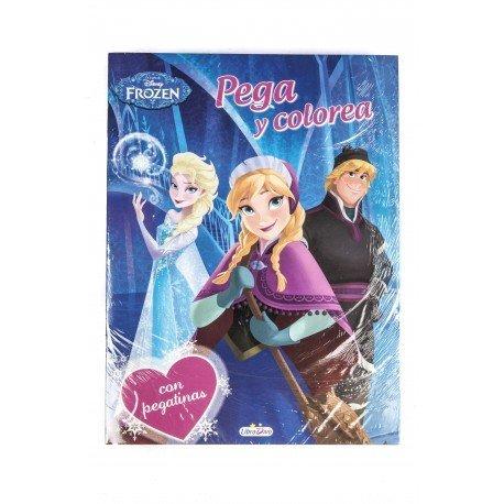 Cuaderno de Colorear Frozen con Pegatinas 12 páginas