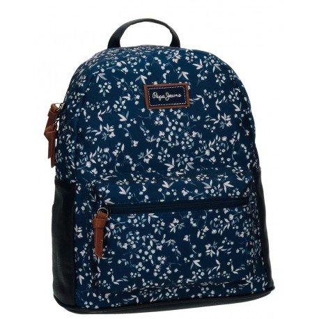 Mochila Escolar Pepe Jeans Nat Sin carro 31x29x16cm Azul