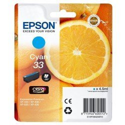 Cartucho Epson T3342 Color Cian C13T334240