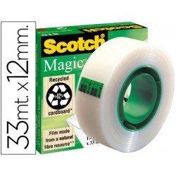 Cinta adhesiva invisible marca Scotch 33 mt x 12 mm