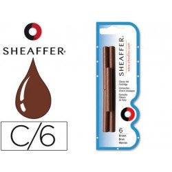 Cartuchos de tinta Sheaffer Classic color marron