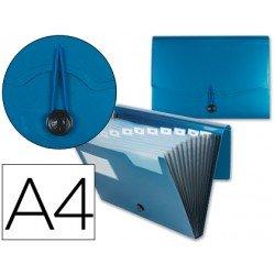 Carpeta clasificadora polipropileno Beautone Din A4 azul