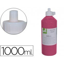 Tempera escolar Q-connect 1000 ml color rosa