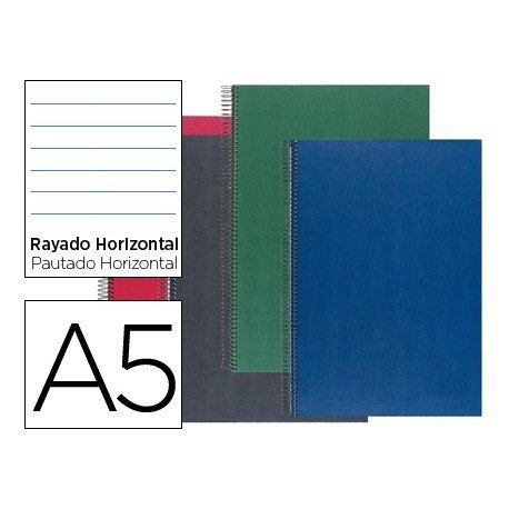 Bloc Liderpapel serie Paper Coat DIN A5 rayado. 160 Hojas y 70 g/m2