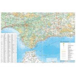 Mapa de carreteras España y Portugal