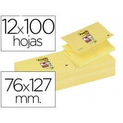 Bloc quita y pon Post-it ® Zigzag super sticky 76 x 127 mm amarillo