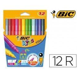 Rotulador Bic kids visa estuche de 12 colores