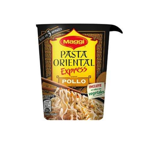 Pasta oriental pollo marca Maggi