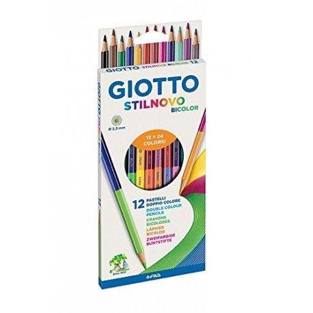 Lapices de colores marca Giotto Stilnovo bicolor Caja de 12 colores
