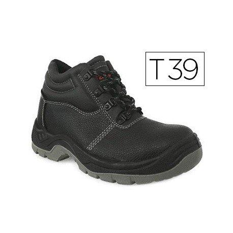 Botas de seguridad Marca Faru Cuero Negro Talla 39