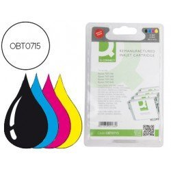 Cartucho compatible Epson Negro + Tricolor estandar T0715