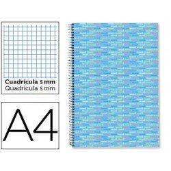 Bloc marca Liderpapel A4 serie Multilider cuadricula celeste