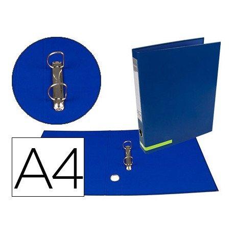 Carpeta marca Liderpapel carton forrado Color System A4 azul