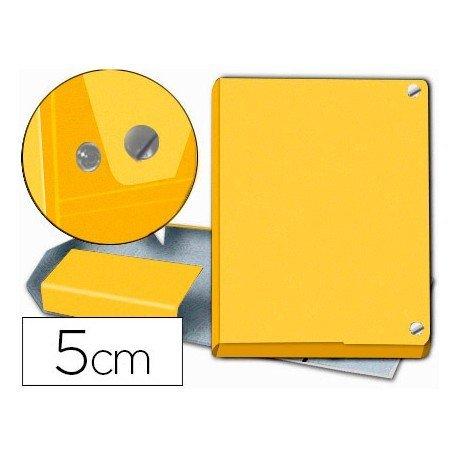 Carpeta Pardo para proyectos folio lomo 50 mm Amarillo con broche