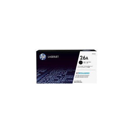 Cartucho de toner original HP LaserJet 26A color negro