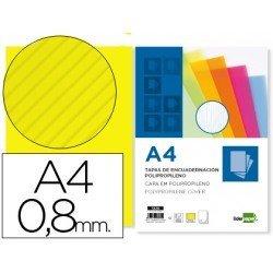 Tapa de Encuadernacion Ondulada Polipropileno Liderpapel DIN A4 Amarillo 0.8mm
