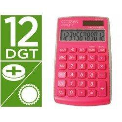 Calculadora Bolsillo Citizen CPC-112PKWB 12 Digitos Color Fucsia Serie Wow