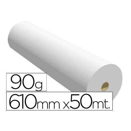 PAPEL REPROGRAFIA PARA PLOTTER 610MMX50MT 90GR IMPRESION INK-JET