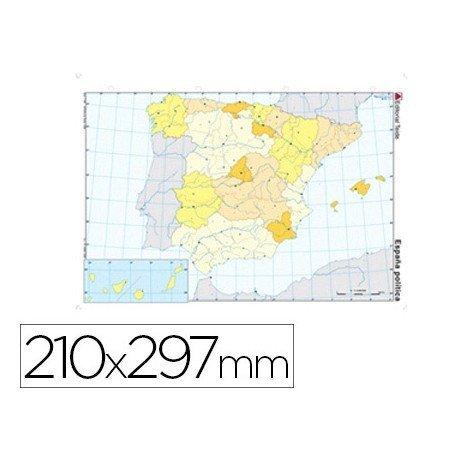 Mapa mudo de España politico