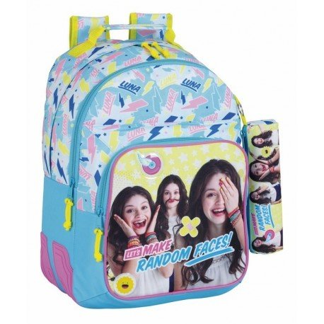 CARTERA ESCOLAR SAFTA SOY LUNA FACES MOCHILA 320X150X420 MM
