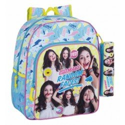 Mochila Infantil Soy Luna Adaptable a Carro 32x12x38 cm Faces